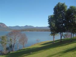 australia, lake moogerah, water, sky, clouds, scenic