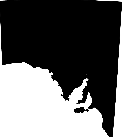australia, map, black, geography, south states