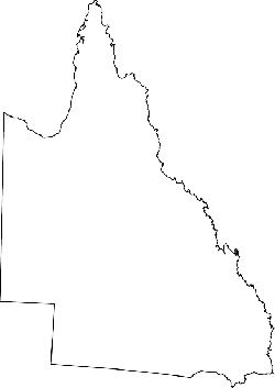 australia, map, geography, outline, queensland, state