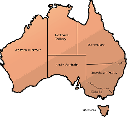 australia, map, teritories, geography, continent