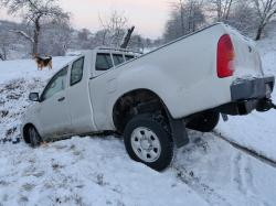auto, accident, winter, snow, smooth, dig, damage