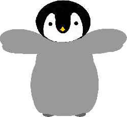 baby, tux, penguin, linux, cartoon, bird, cute
