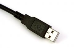 background, black, cable, isolated, usb, white