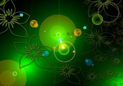 background, floral, green, texture, abstract, fractals