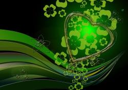 background, heart, love, green, texture, abstract
