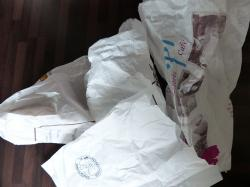 bakery bags, paper bags, bags, white, garbage, waste