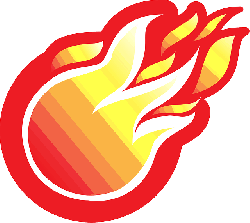 ball, circle, fire, flame, gradient, orange, red, white