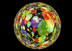 ball, colorful, about, points, color, mirroring, reflex
