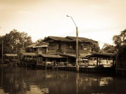bangkok, thailand, house, landscape, old, tree, nature