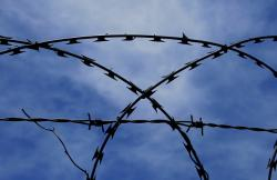 barbed wire, razor, wire, fence, spikes, obstacle
