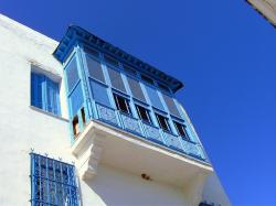 bay window, home, window, blue, white, stem, facade