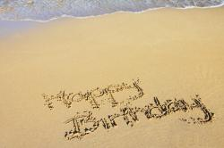 beach, birthday, celebration, coast, drawing, happy