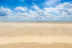beach, sand, sea, sky, cloud, cloudy, holiday, blue