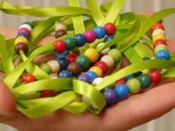 beads, pearl necklace, band, chain, hand, toys