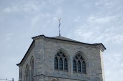 bell tower, cathedral, huy, church