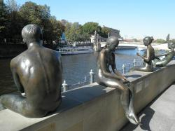 berlin, image, river, spree, sculpture