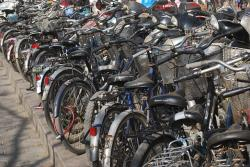 bicycles, bikes, parking, two, wheelers