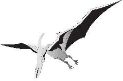 bird, silver, wings, dinosaur, ancient, pterodactyl