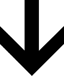 black, arrow, down, direction, pointing, shape, shapes