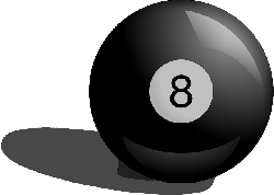black, cartoon, ball, pool, balls, eight, billiard