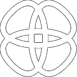 black, celtic, knot, simple, outline, pattern, white