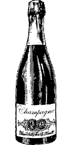 black, drawing, bottle, silhouette, cartoon, drink