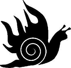 black, fire, white, line, snail, animal