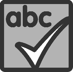 black, flat, square, grey, abc, check, theme, action