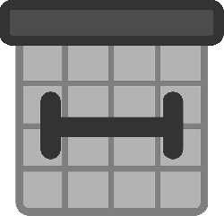 black, flat, square, grey, theme, action, planner, icon