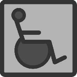 black, flat, wheelchair, square, grey, theme