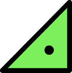 black, green, circle, triangle, shape, dot, geometric