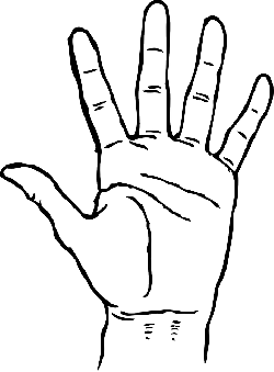 black, icon, left, right, outline, hand, drawing, open