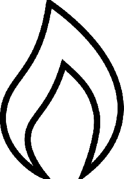 black, icon, outline, symbol, silhouette, fire, white