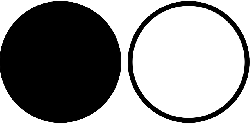 black, icon, symbol, white, gui, circles, circle, guy