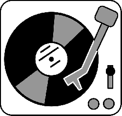 black, music, flat, icon, simple, table, drawing