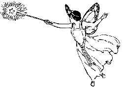 black, outline, drawing, female, white, cartoon, flying