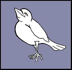 black, outline, happy, white, cartoon, purple, birds