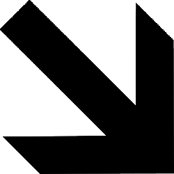 black, south, arrow, direction, pointing, arrows, shape