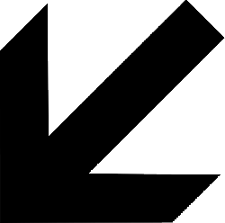 black, south, arrow, shapes, direction, pointing