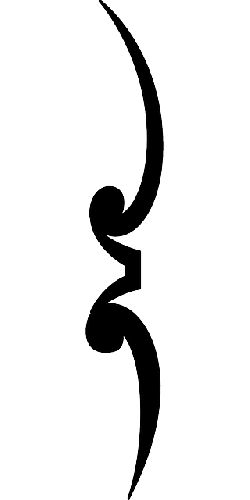 black, vertical, left, silhouette, separator, separate