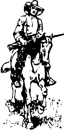 black, western, boy, silhouette, white, cartoon, cow