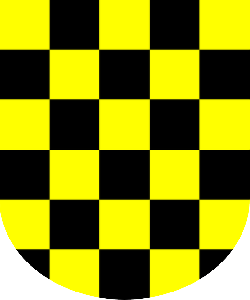 black, yellow, pattern, chess, board, checkers