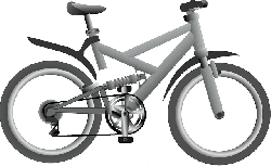 blue, cartoon, transportation, bike, bicycle, vehicles