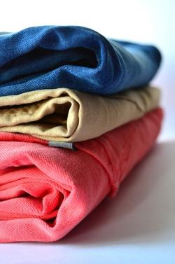blue, pink, brown, color, stack, clothing, cloth