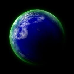 blue, planet, earth, green, glow, cosmos, black