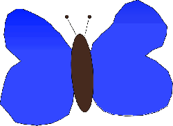 blue, simple, cartoon, butterfly, wings, insect