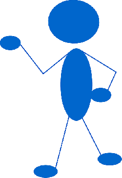 blue, stick, people, man, figure, person, pointing