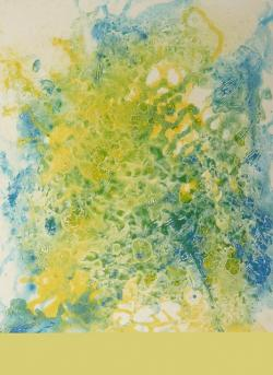 blue, yellow, painting, image, art, paint, color