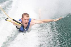 boarding, surfing, boating, lake, wake boarding, wake