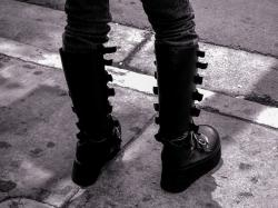 boots, leather, fantasy, comic, boot, black, clothing